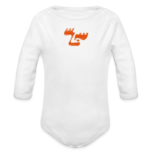 moose logo3 orange - Baby Bio-Langarm-Body