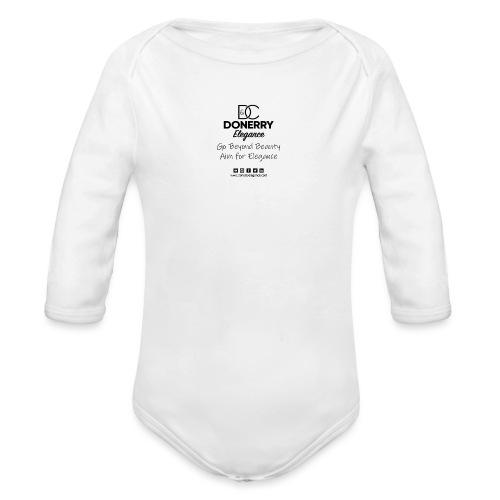 Go Beyond Elegance Image T Shirt design - Organic Longsleeve Baby Bodysuit