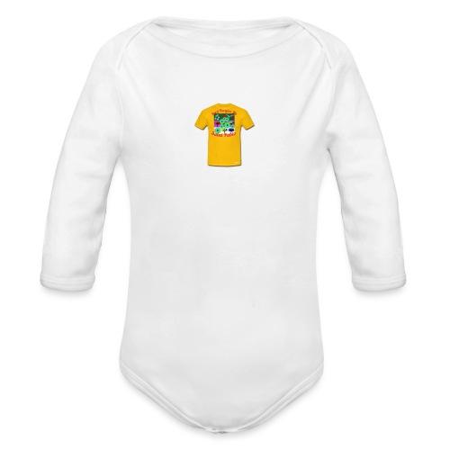 Castle design - Langærmet babybody, økologisk bomuld