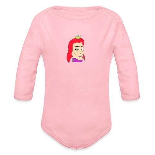 queen - Body orgánico de manga larga para bebé