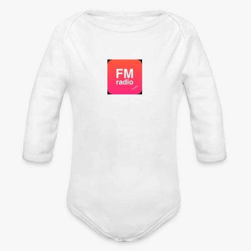 logo radiofm93 - Baby bio-rompertje met lange mouwen