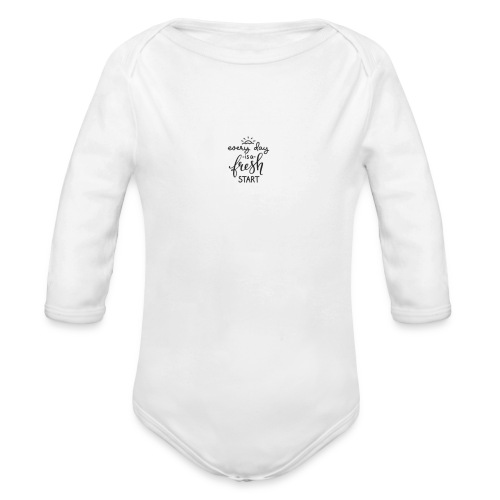 every day is a fresh day - Baby bio-rompertje met lange mouwen