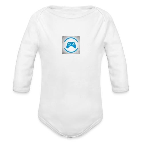 mijn logo - Baby bio-rompertje met lange mouwen