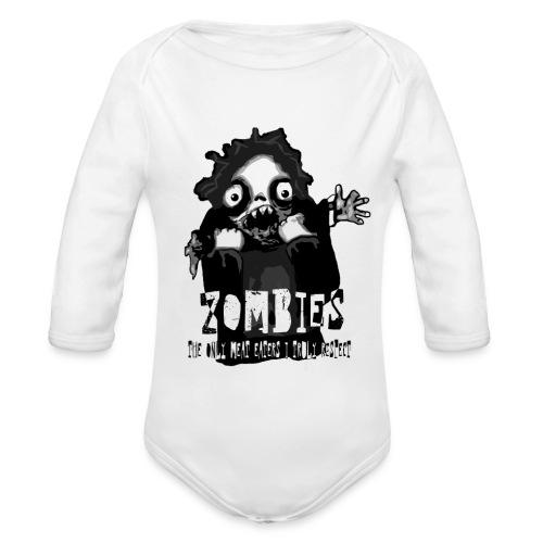 zombies - the only meat eaters i truly respect sv - Ekologisk långärmad babybody