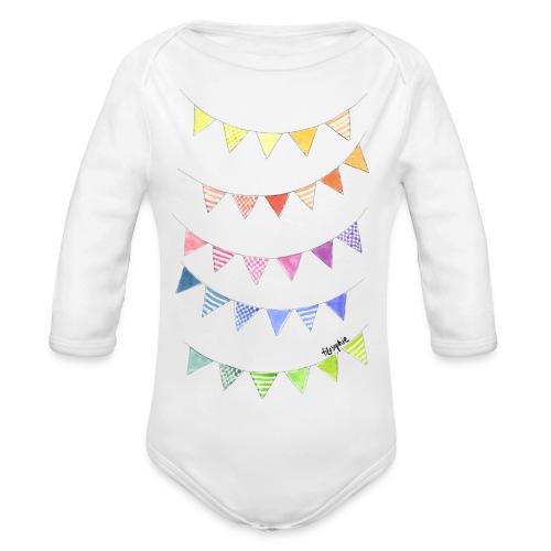 Vimplar - Ekologisk långärmad babybody