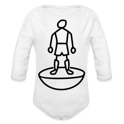 Table Football Stick Man - Organic Longsleeve Baby Bodysuit