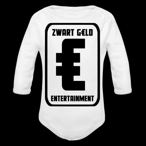ZwartGeld Logo Sweater - Baby bio-rompertje met lange mouwen