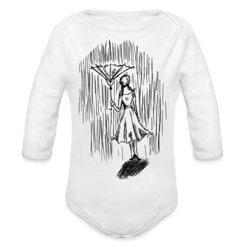 Umbrella - Organic Longsleeve Baby Bodysuit