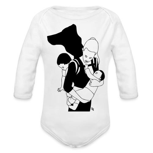 Babycarrying Super Hero Mom 05 - Ekologisk långärmad babybody