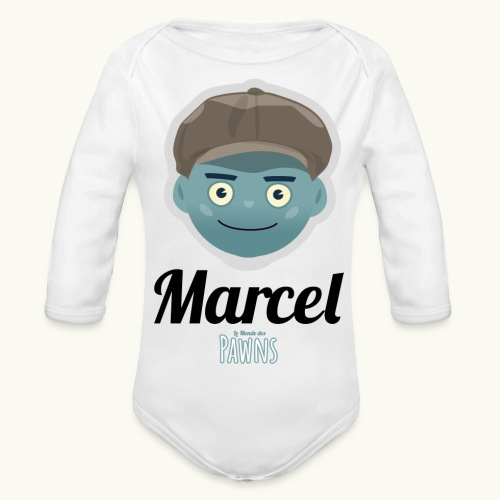 Marcel (Le monde des Pawns) - Body Bébé bio manches longues