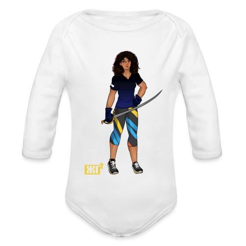 Sabre fencer - Organic Longsleeve Baby Bodysuit