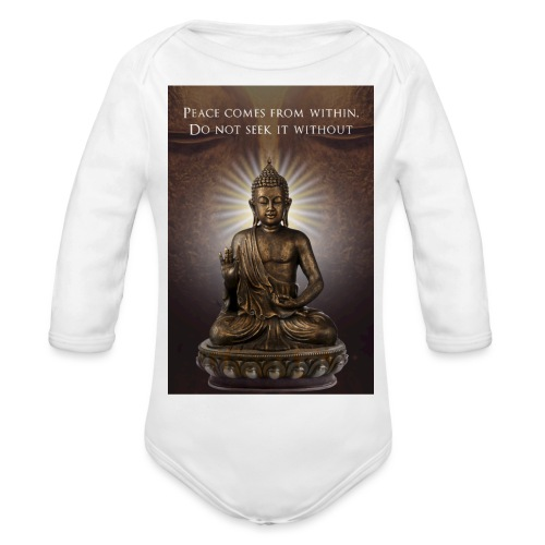Peace from Within - Organic Longsleeve Baby Bodysuit