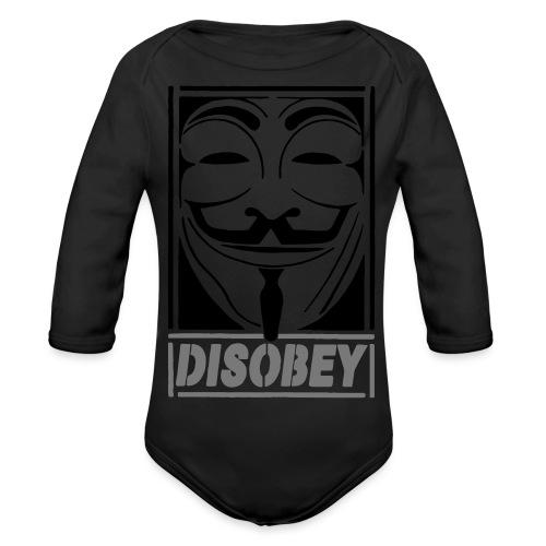 disobey - Langærmet babybody, økologisk bomuld