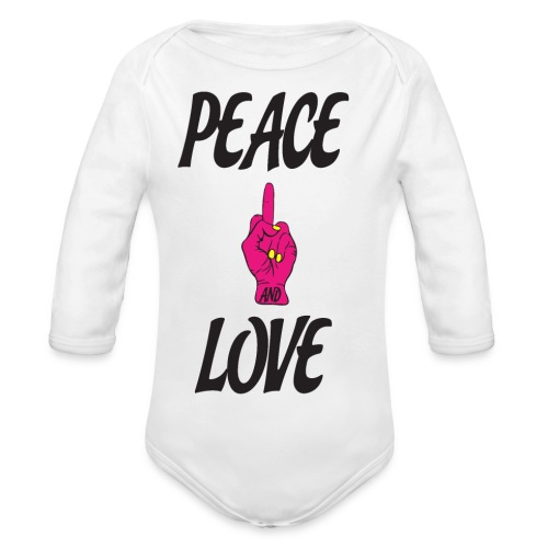 PEACE AND LOVE - Body ecologico per neonato a manica lunga