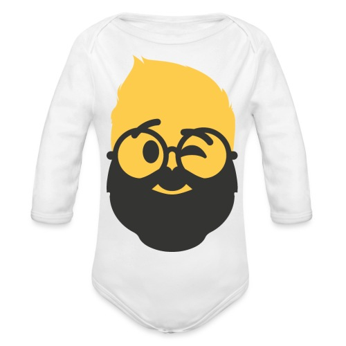 Dougsteins Wink Inverse by Dougsteins - Organic Longsleeve Baby Bodysuit