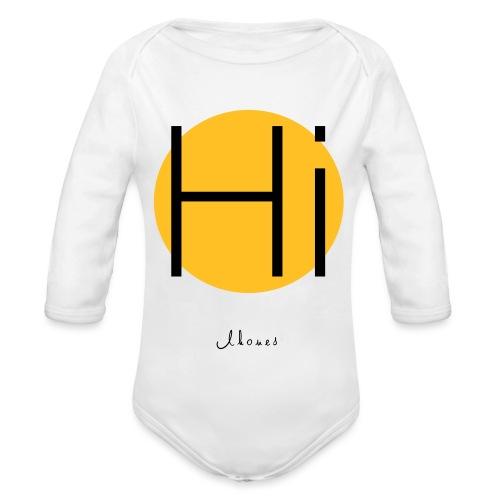 Hi circle - Organic Longsleeve Baby Bodysuit