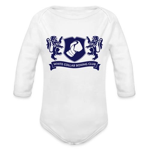 White Collar Boxing Hoodie Classic-Blue - Baby Bio-Langarm-Body