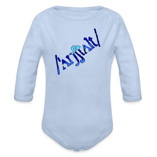 /'angstalt/ logo gerastert (blau/schwarz) - Baby Bio-Langarm-Body