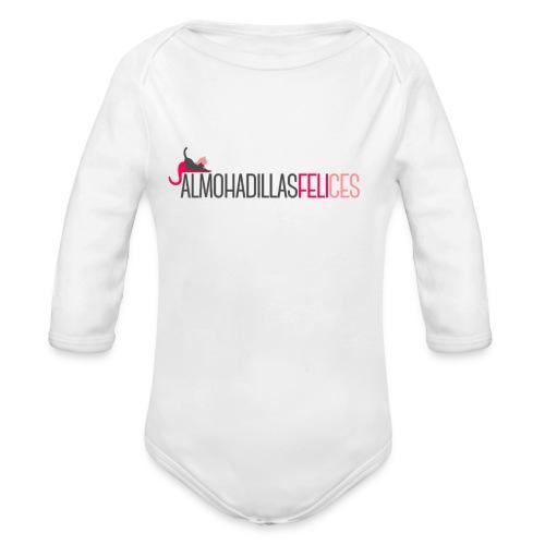 Almohadillas Felices Básico - Body orgánico de manga larga para bebé