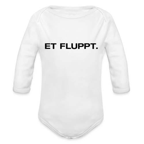 Et fluppt. - Baby Bio-Langarm-Body