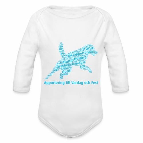 Apportering till vardag och fest wordcloud blått - Ekologisk långärmad babybody