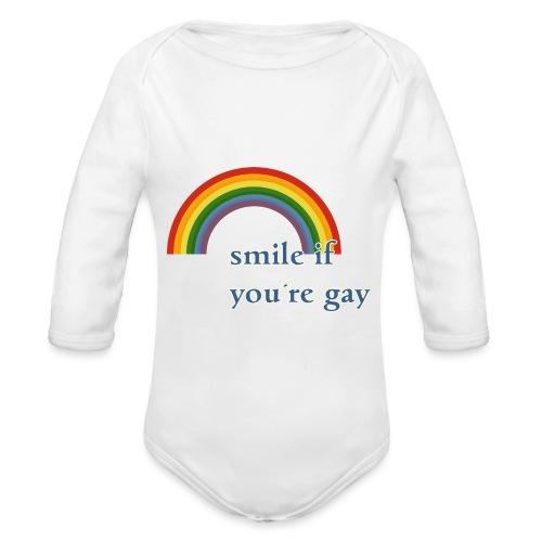 Lächle wenn du schwul bist | Vintage | LGBT |Pride - Baby Bio-Langarm-Body