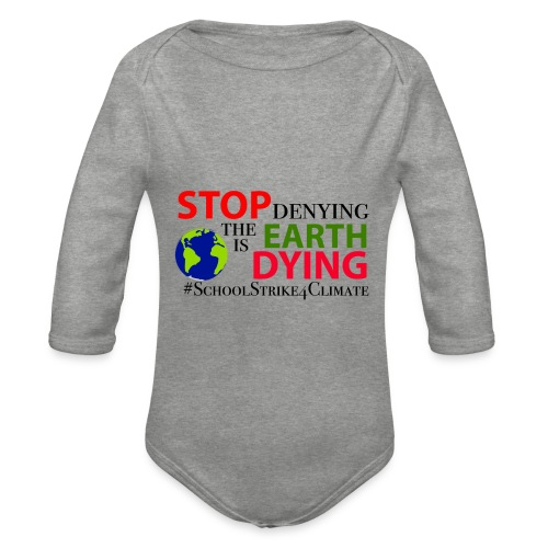 School Strike 4 Climate - Baby bio-rompertje met lange mouwen
