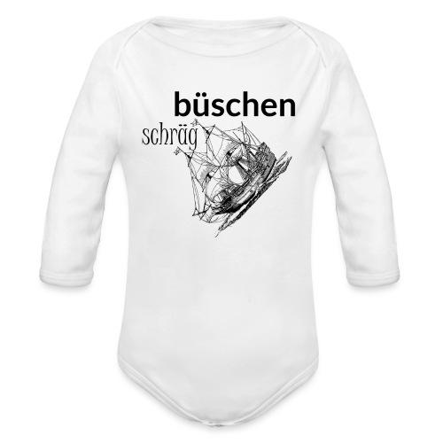 büschen schräg - Design für Fans des Nordens - Baby Bio-Langarm-Body