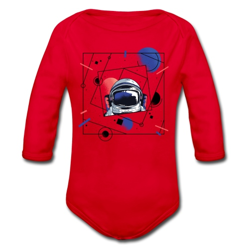 Beste Astronaut Weltraum Designs - Baby Bio-Langarm-Body