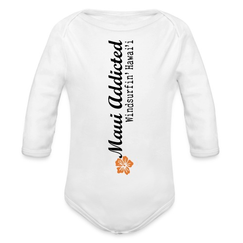 MAddLogoVert ai - Organic Longsleeve Baby Bodysuit