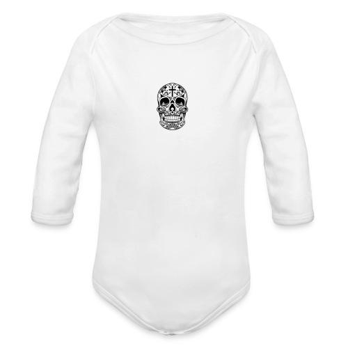 Home Vector Sugar Skull - Baby bio-rompertje met lange mouwen