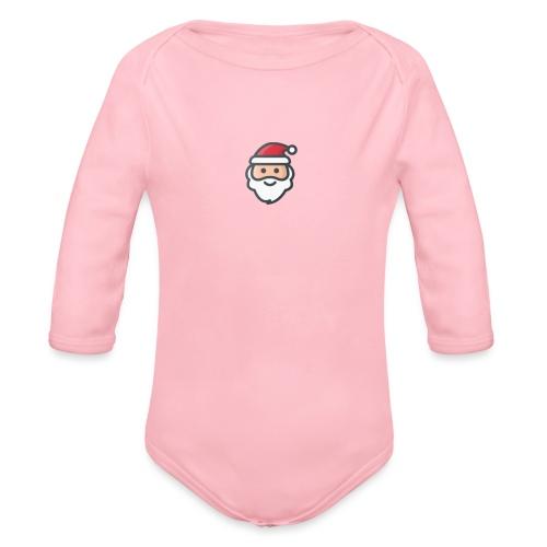 santa - Organic Longsleeve Baby Bodysuit