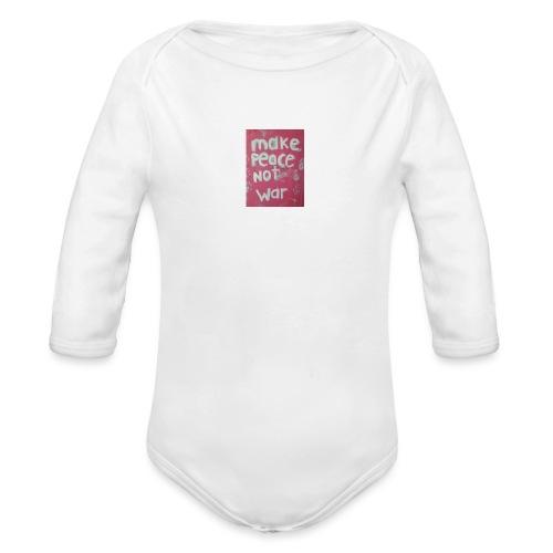 Make peace not war - Ekologisk långärmad babybody