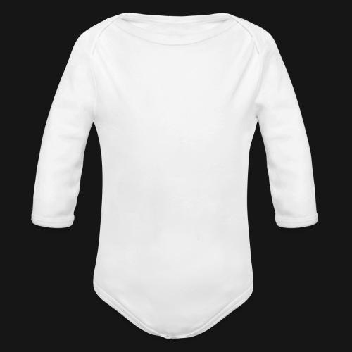 Walkeny Schriftzug vertikal in weiß - Baby Bio-Langarm-Body