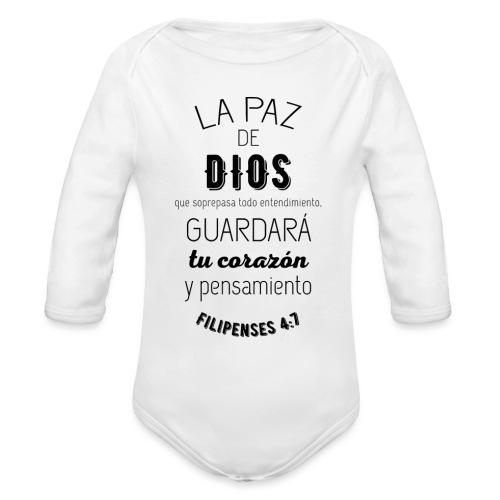 PAZ - Body orgánico de manga larga para bebé