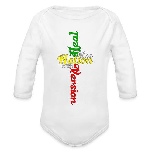 Reggae Healing Gears - Organic Longsleeve Baby Bodysuit