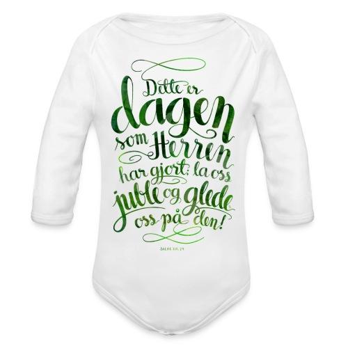 Dette er dagen - Økologisk langermet baby-body