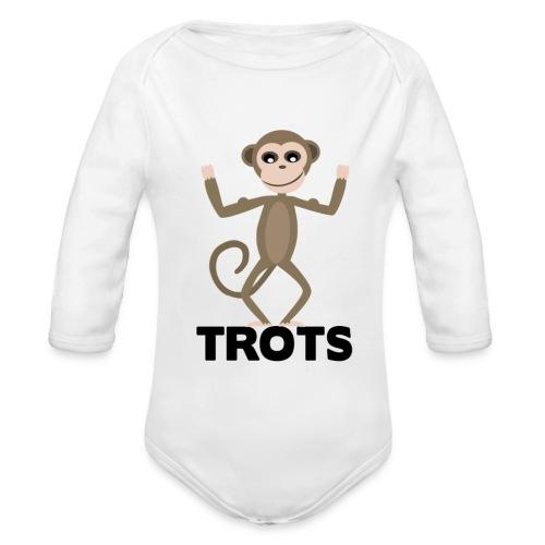 apetrots aapje wat trots is - Baby bio-rompertje met lange mouwen