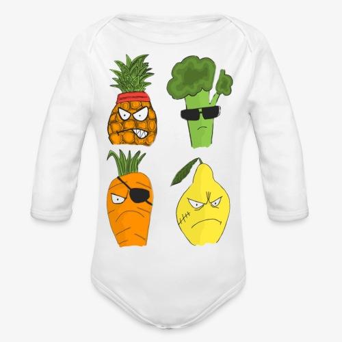 Gangsta Vegetables - Public Enemies? - Body Bébé bio manches longues