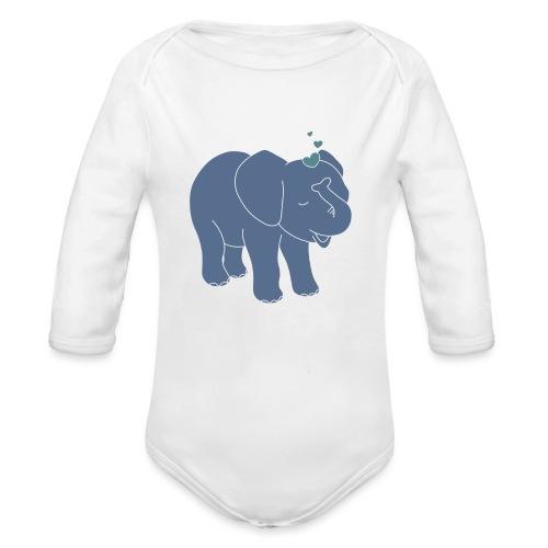 Little elephant - Baby Bio-Langarm-Body