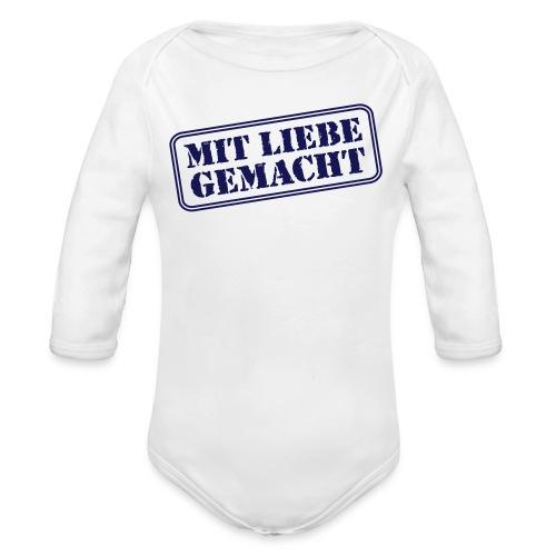 MIT LIEBE GEMACHT - Baby Bio-Langarm-Body