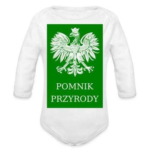 POL_Pomnik_Przyrody-svg - Ekologiczne body niemowlęce z długim rękawem