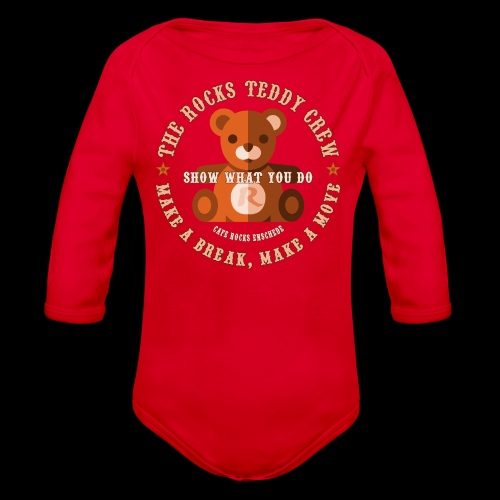 Rocks Teddy Crew - Brown - Baby bio-rompertje met lange mouwen