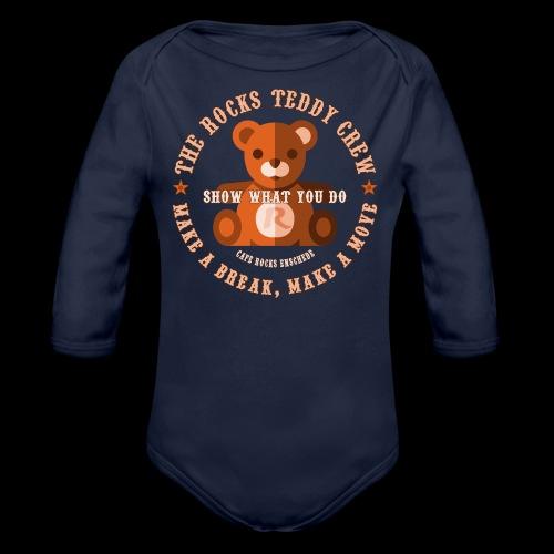 Rocks Teddy Crew - Brown - Baby bio-rompertje met lange mouwen