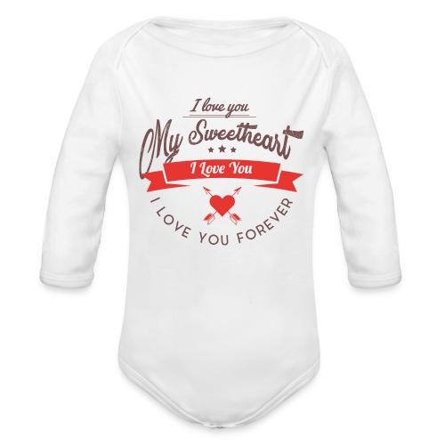 my sweetheart - Ekologiczne body niemowlęce z długim rękawem