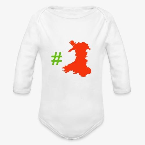 Hashtag Wales - Organic Longsleeve Baby Bodysuit