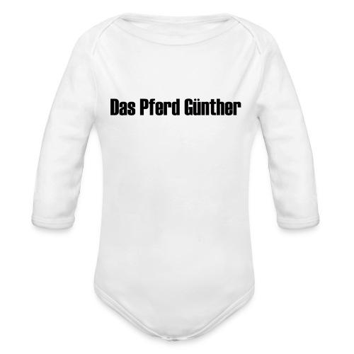 Original Das Pferd Günther Schriftzug - Baby Bio-Langarm-Body