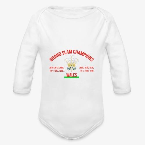 Wales Grand Slam - Organic Longsleeve Baby Bodysuit