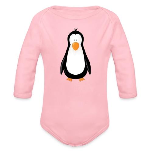 Pinguin Fridolin - Baby Bio-Langarm-Body