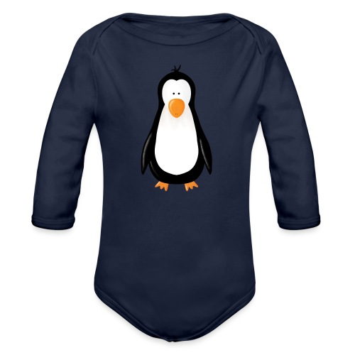 Pinguin Fridolin - Baby Bio-Langarm-Body